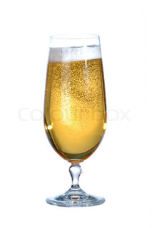 Glass of pale beer (lager)