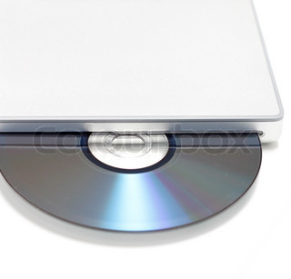 A CD in a laptop