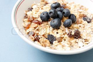 Billede af 'morgenmad, havregryn, mysli'
