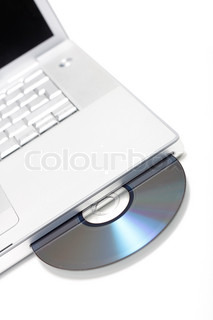 CD on a laptop computer