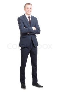 ein Geschäftsmann mit Zuversicht