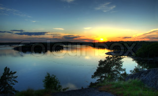 Sunset in Blekinge Sweden