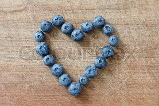 Blueberries photographed in a studio