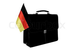 Portfolio mit einer Flagge Deutschlands
