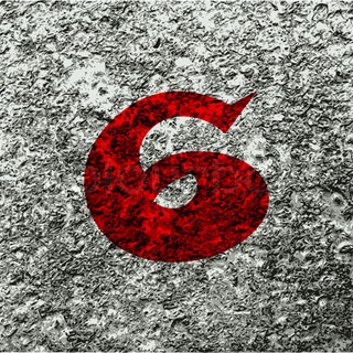 number six icon symbol Flat modern web design with long shadow and space for your text. Vector