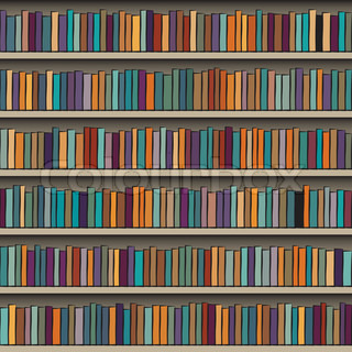 Books Vector Seamless Texture Vertically And Horizontally Bookshelf