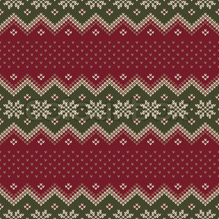 knitted pattern with skulls vector colourbox