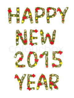 New Year's Eve greeting. 2015