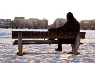 Billede af 'alene, folk, enkelt'