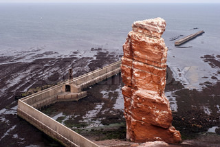 Famous rock at the German North Sea island Helgoland called Tall Anna.