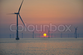 Image of 'wind, offshore, turbine'
