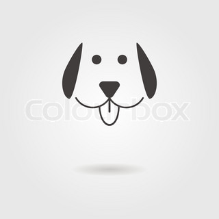 dog icon with shadow