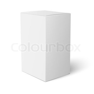 blank paper or cardboard box template standing on white background packaging collection vector. Black Bedroom Furniture Sets. Home Design Ideas