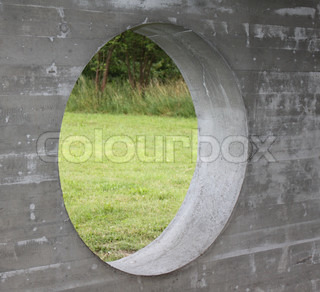 Image of 'concrete, circle, signs'