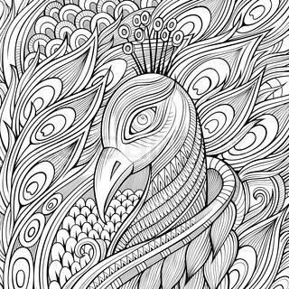 Decorative ornamental peacock background.