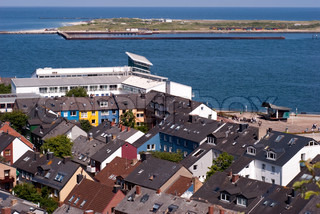 Helgoland city and the North Sea