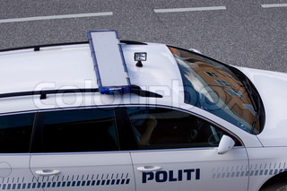 Top-down view of a Danish police car