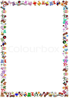 Toy Border Clipart Stock Vector Colourbox
