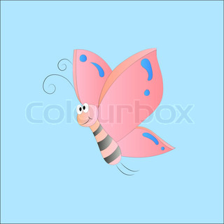 Illustration of cute flying butterfly | Vector | Colourbox