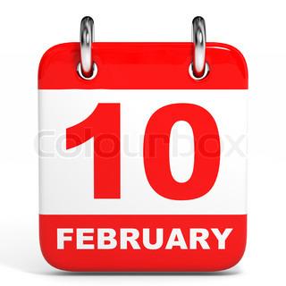 Calendar. 10 February.