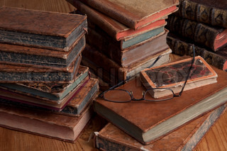 Vintage antiquarian books