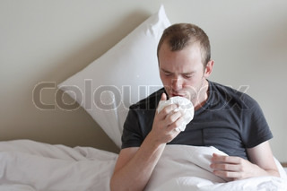 A man with the flu
