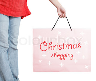 A shopping bag isolated on white