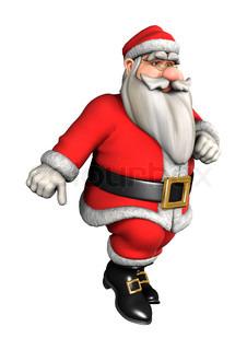 3D digital render of Santa doing sport ready isolated on white ...
