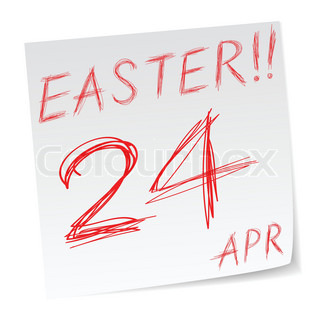 message with easter sunday date of calendar