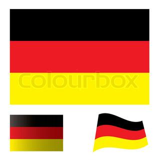 illustrierte Sammlung von Flag Symbolsatz für Deutschland