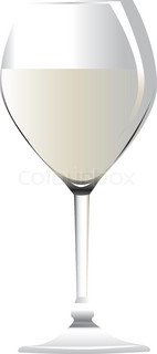 Glass of wine vector on white background