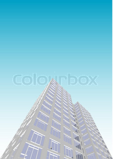 Skyscraper / Office Block in vector format. Every feature of each building including doors and windows can be edited or colored to suit.