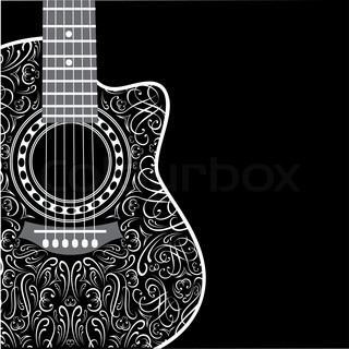 Vector Banner With Acoustic Guitar On Stock Vector Colourbox