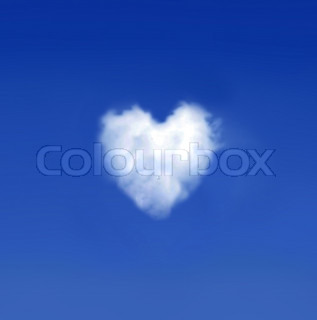Heartshaped cloud