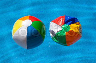 two colorful balls