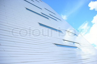 Modern building with blue sky
