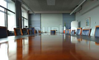 Executive Boardroom with mahogany table centre