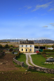 Irish Cottage At Dawn Stock Photo Colourbox