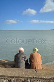 Image of 'couple, elderly, old people'