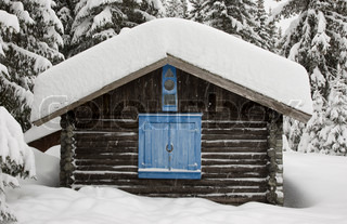 Image of 'norway, winter, cottage'