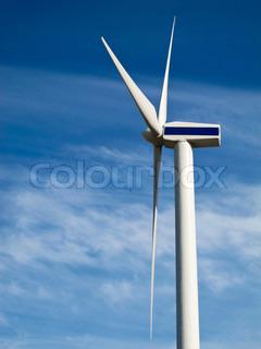 Billede af 'vindmølle, edit, blå'