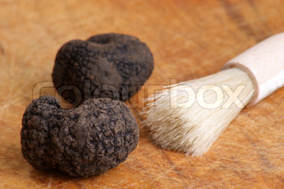 some organic summer truffle and a brush
