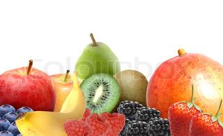 Billede af 'æble, blåbær, fritlagt'