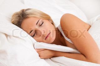 Billede af 'sove, sover, seng'