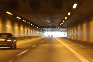 Image of 'tunnel, road, light'