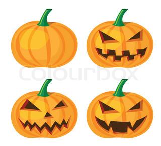 Halloween k rbis mit einem b sen grinsen - Gemuse dekoration schnitzen ...