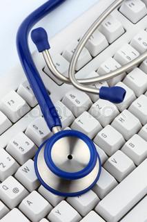 Billede af 'syg, computere, læge'