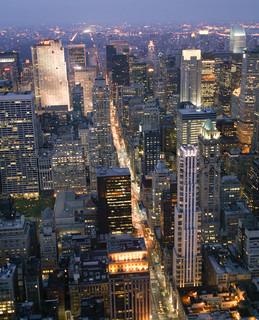USA, New York, Nachtansicht, Vom Empire State Gebäude