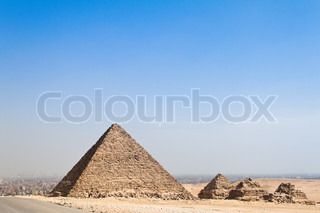 Highlight of a trip to Egypt are the Pyramids of Giza.