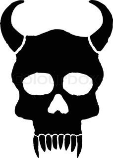 Monster skull with horns.